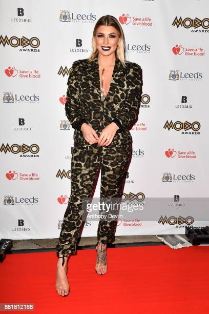 Olivia Buckland attends the MOBO Awards at First Direct Arena Leeds on November 29 2017 in Leeds England