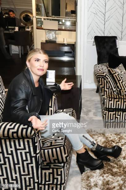Olivia Buckland shopping for her new home with Alex Bowen in Arighi Bianchi ahead of their wedding on March 24 2018 in Macclesfield England