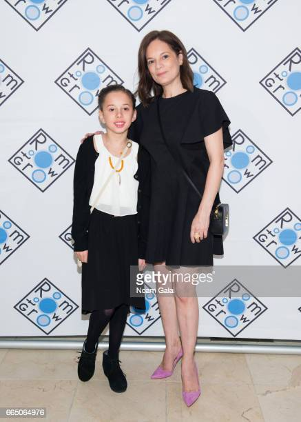 Olivia Burns and Julie Deborah Brown attend the 2017 Room To Grow Spring Benefit at Guastavino's on April 5 2017 in New York City