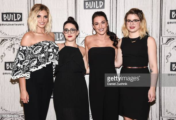 Olivia Caridi Emma Gray Alexis Waters and Claire Fallon attend the Build Series to discuss the 'Bachelorette' at Build Studio on May 16 2017 in New...