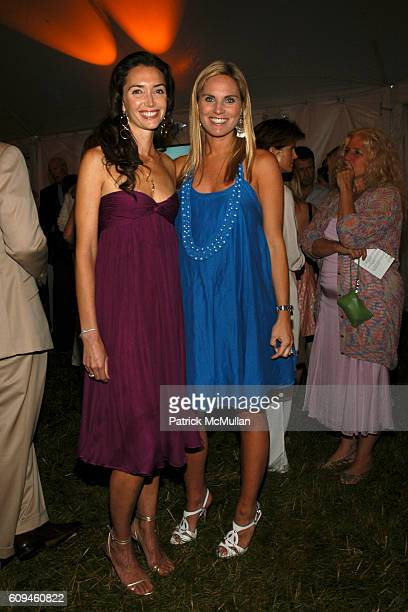 Olivia Chantecaille and Annie Taube attend GROUP FOR THE EAST END 35th Anniversary GALA at The Wolffer Estate Vineyard on June 16 2007 in Sagaponack...