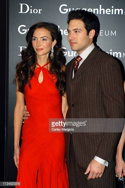 Olivia Chantecaille and Eric Villency during Dior Sponsors the Solomon R. Guggenheim Museum's Young Collectors Council Artist's Ball Honoring Matthew...