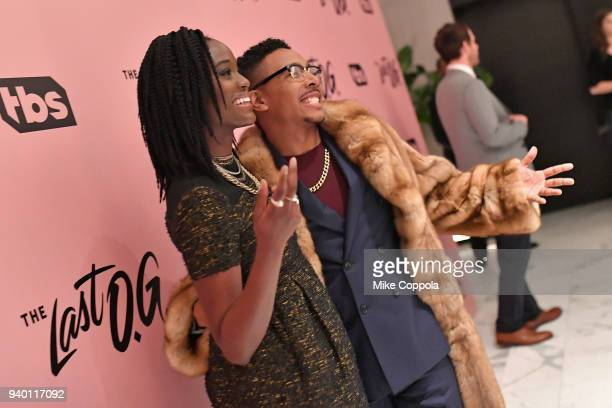 Olivia Charmaine Morris and Allen Maldonado attend TBS' The Last OG Premiere at The William Vale on March 29 2018 in New York City 27038_012