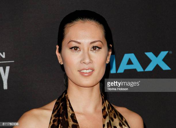 Olivia Cheng attends the Premiere of Netflix's 'Crouching Tiger Hidden Dragon Sword Of Destiny' at AMC Universal City Walk on February 22 2016 in...