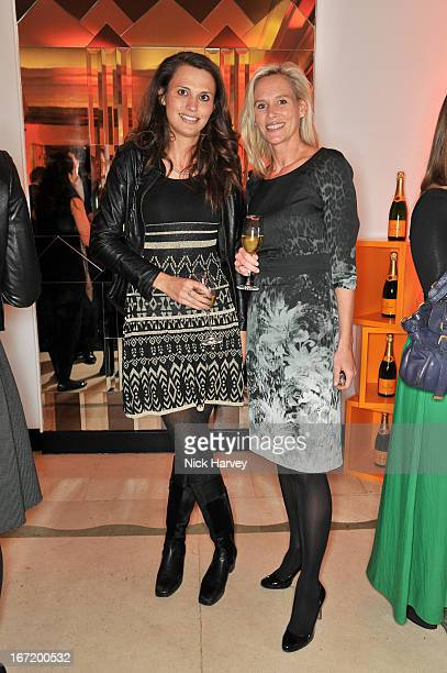 Olivia Cole and Tia Graham attends the Veuve Clicquot Business Woman of the Year award at Claridges Hotel on April 22 2013 in London England
