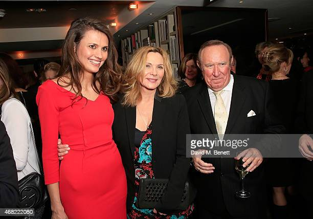 Olivia Cole Kim Cattrall and Andrew Neil attend as Spectator Life magazine celebrates its third birthday at the Belgraves Hotel on March 31 2015 in...
