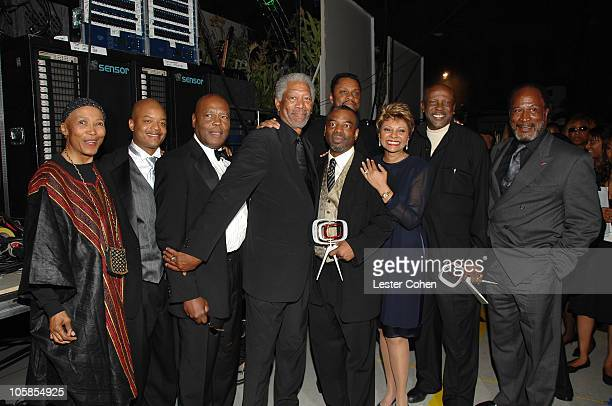 Olivia Cole Todd Bridges Georg Stanford Brown Morgan Freeman LeVar Burton Leslie Uggams Louis Gossett Jr and John Amos winners Anniversary Award for...