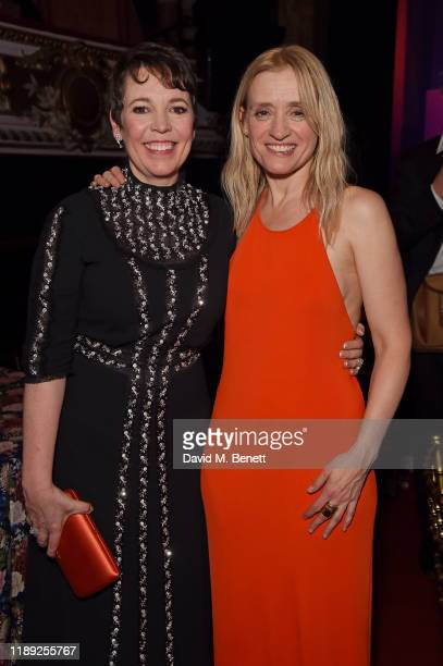 Olivia Colman and AnneMarie Duff attend the after party of the 65th Evening Standard Theatre Awards In Association With Michael Kors at London...