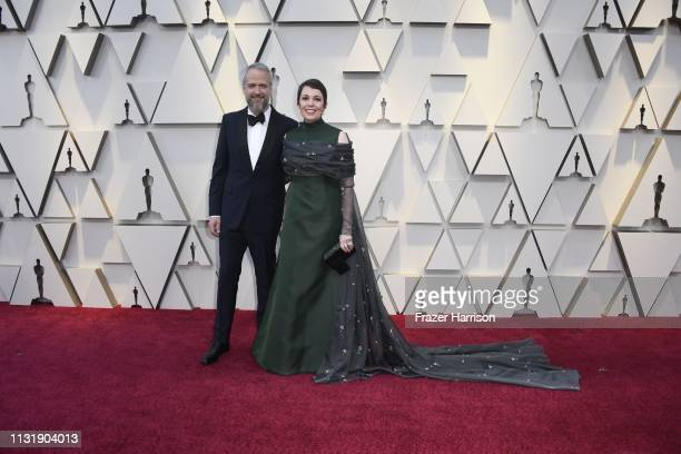 Olivia Colman and Ed Sinclair attend the 91st Annual Academy Awards at Hollywood and Highland on February 24 2019 in Hollywood California