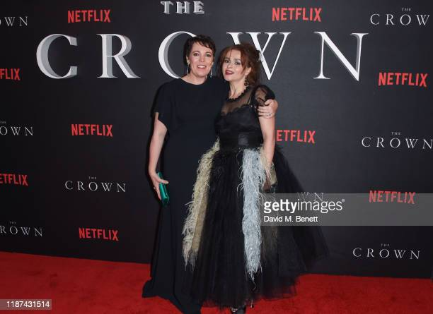 """Olivia Colman and Helena Bonham Carter attend the World Premiere of Netflix Original Series """"The Crown"""" Season 3 at The Curzon Mayfair on November..."""