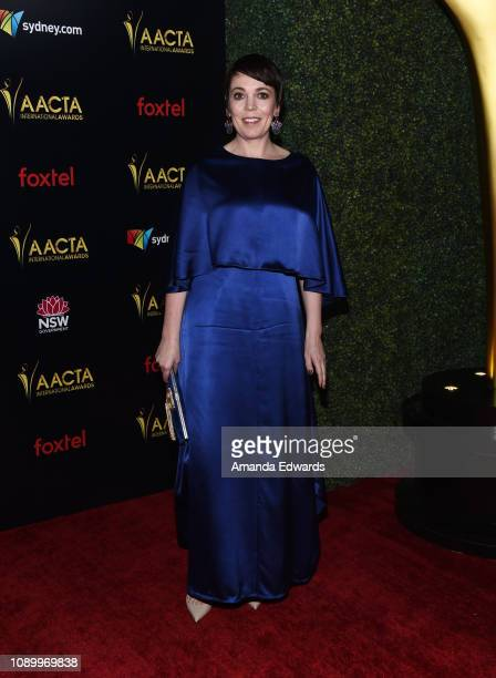 Olivia Colman arrives at the 8th AACTA International Awards at Mondrian Los Angeles on January 04 2019 in West Hollywood California