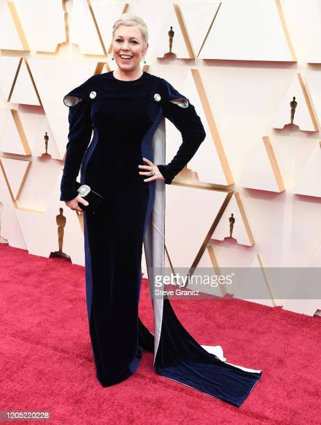 Olivia Colman arrives at the 92nd Annual Academy Awards at Hollywood and Highland on February 09, 2020 in Hollywood, California.