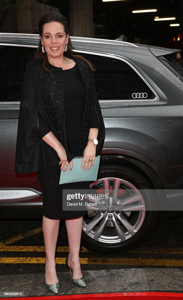Olivia Colman arrives in an Audi at the BAFTA TV on Sunday 14 May 2017 on May 14, 2017 in London, United Kingdom.
