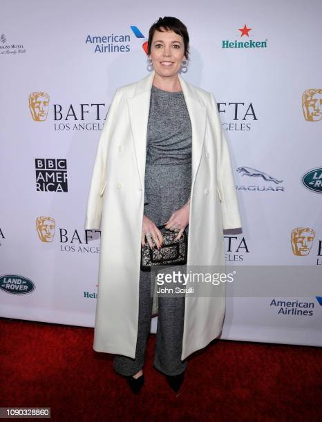 Olivia Colman arrives to the BAFTA Tea Party at The Four Seasons Hotel Los Angeles at Beverly Hills on January 05 2019 in Beverly Hills California