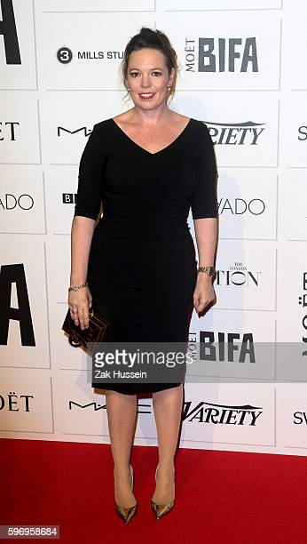 Olivia Colman arriving at the British Independent Film Awards in London