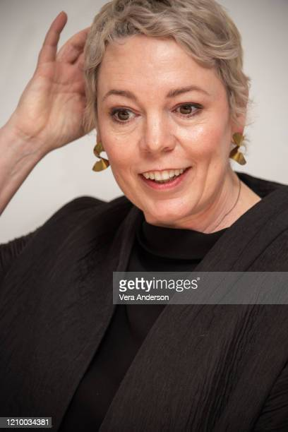 "Olivia Colman at the ""The Crown"" Set Visit at undisclosed location on March 02, 2020 in London, England."