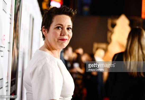 Olivia Colman attend AFI Fest: The Crown & Peter Morgan Tribute at TCL Chinese Theatre on November 16, 2019 in Hollywood, California.