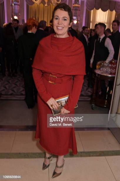 Olivia Colman attends attends the 91st Academy Awards Champagne Tea Reception at Claridge's Hotel on February 8, 2019 in London, England.