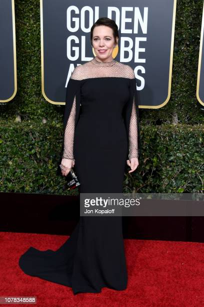 Olivia Colman attends the 76th Annual Golden Globe Awards at The Beverly Hilton Hotel on January 6 2019 in Beverly Hills California