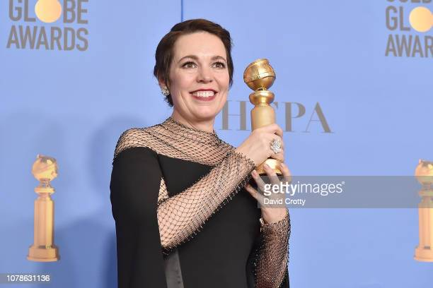 Olivia Colman attends the 76th Annual Golden Globe Awards Press Room at The Beverly Hilton Hotel on January 6 2019 in Beverly Hills California
