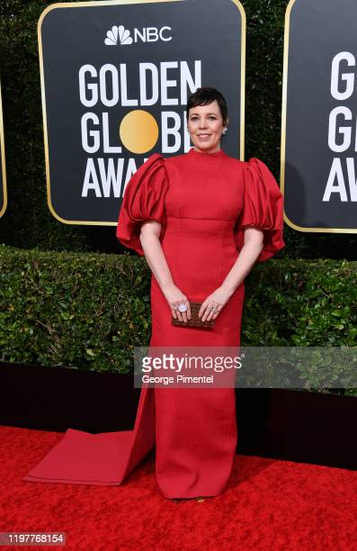 Olivia Colman attends the 77th Annual Golden Globe Awards at The Beverly Hilton Hotel on January 05, 2020 in Beverly Hills, California.