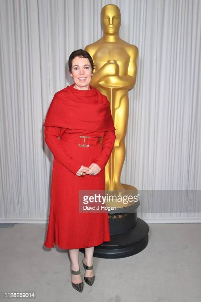 Olivia Colman attends the 91st Oscars Nominee Champagne Tea Reception at Claridges Hotel on February 08 2019 in London England