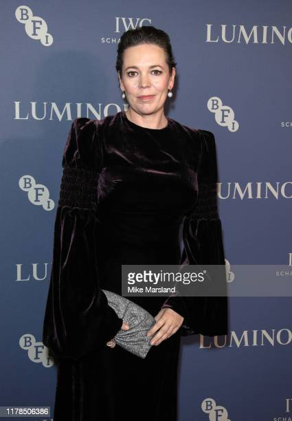 Olivia Colman attends the BFI Luminous Fundraising Gala at The Roundhouse on October 01, 2019 in London, England.
