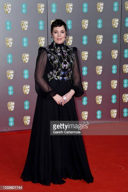 Olivia Colman attends the EE British Academy Film Awards 2020 at Royal Albert Hall on February 02, 2020 in London, England.
