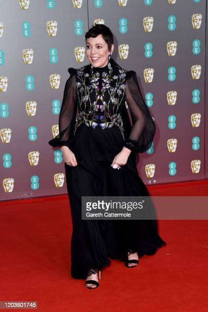 Olivia Colman attends the EE British Academy Film Awards 2020 at Royal Albert Hall on February 02 2020 in London England