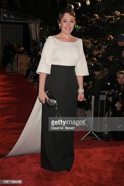 Olivia Colman attends the EE British Academy Film Awards at Royal Albert Hall on February 10, 2019 in London, England.