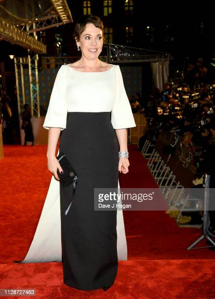 Olivia Colman attends the EE British Academy Film Awards at Royal Albert Hall on February 10 2019 in London England