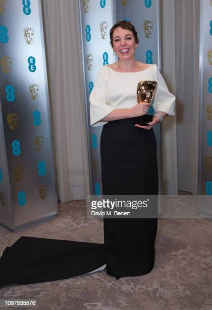 Olivia Colman attends the EE British Academy Film Awards gala dinner at The Grosvenor House Hotel on February 10, 2019 in London, England.