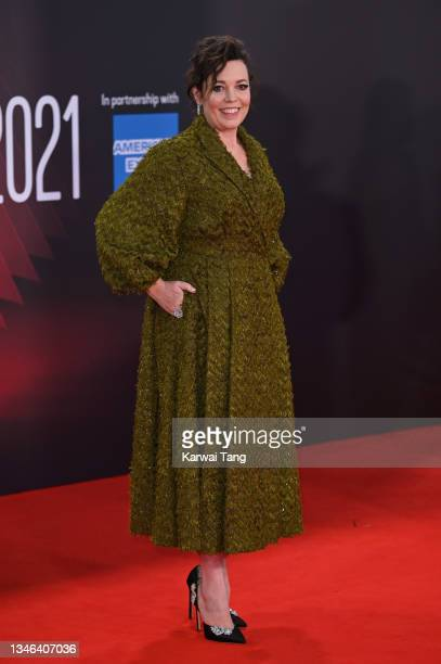 """Olivia Colman attends """"The Lost Daughter"""" UK Premiere during the 65th BFI London Film Festival at The Royal Festival Hall on October 13, 2021 in..."""