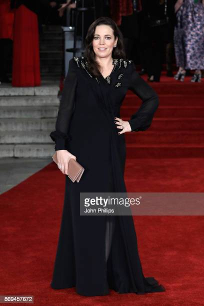 Olivia Colman attends the 'Murder On The Orient Express' World Premiere at Royal Albert Hall on November 2 2017 in London England