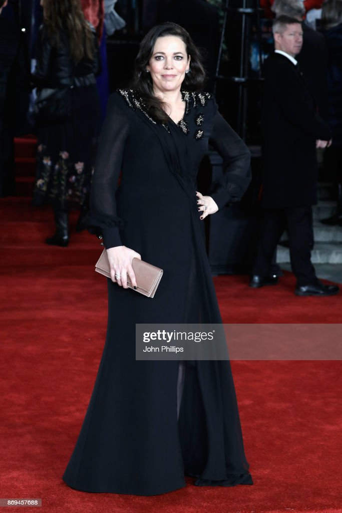 Olivia Coleman attends the 'Murder On The Orient Express' World Premiere at Royal Albert Hall on November 2, 2017 in London, England.