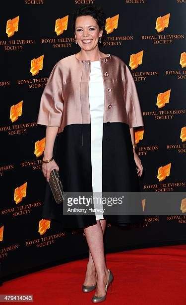 Olivia Colman attends the RTS programme awards at Grosvenor House on March 18 2014 in London England