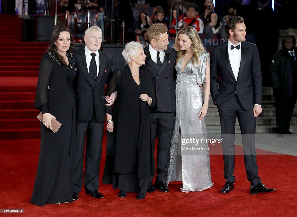 Olivia Colman, Derek Jacobi, Dame Judi Dench, Kenneth Branagh, Michelle Pfeiffer and Tom Bateman attend the 'Murder On The Orient Express' World Premiere at Royal Albert Hall on November 2, 2017 in London, England.