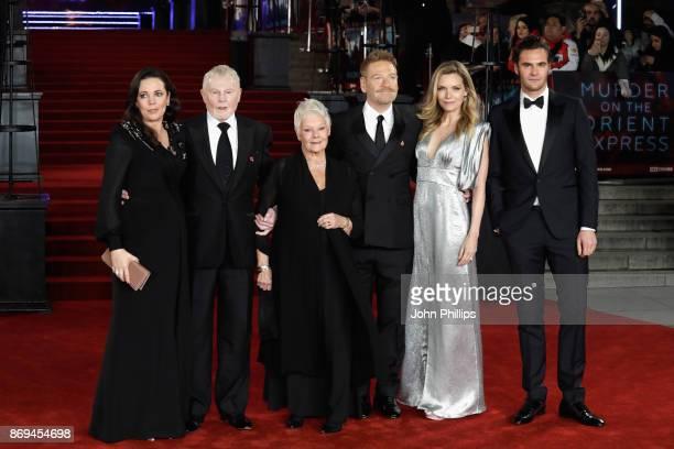 Olivia Colman Derek Jacobi Judi Dench Kenneth Branagh Michelle Pfeiffer and Tom Bateman attend the 'Murder On The Orient Express' World Premiere at...