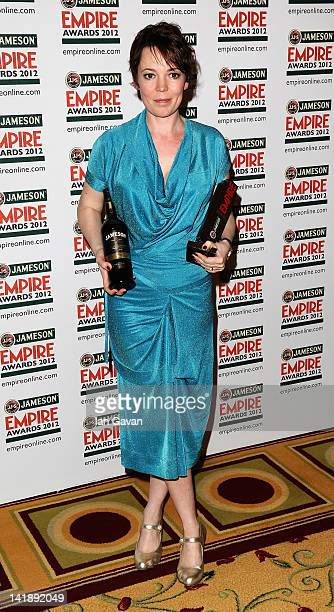 Olivia Colman during the 2012 Jameson Empire Awards at the Grosvenor House Hotel on March 25 2012 in London England