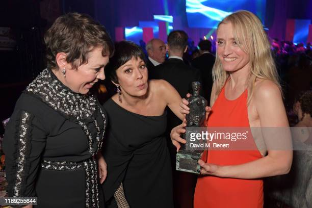 Olivia Colman Helen McCrory and AnneMarie Duff attend the after party of the 65th Evening Standard Theatre Awards in association with Michael Kors at...