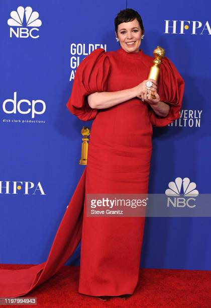 Olivia Colman poses in the press room at the 77th Annual Golden Globe Awards at The Beverly Hilton Hotel on January 05 2020 in Beverly Hills...