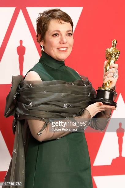 Olivia Colman poses in the press room at the 91st Annual Academy Awards at the Dolby Theatre in Hollywood California on February 24 2019