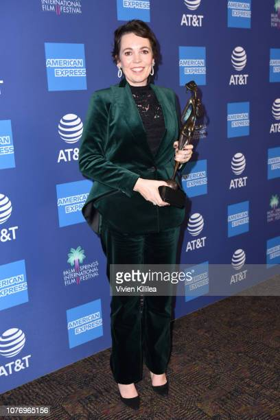 Olivia Colman, recipient of the Desert Palm Achievement Award, attends the 30th Annual Palm Springs International Film Festival Film Awards Gala at...