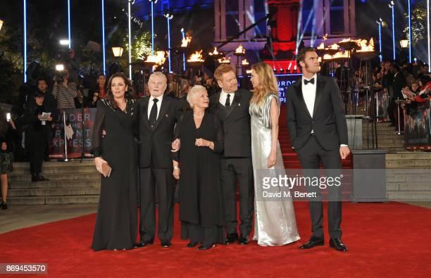 Olivia Colman Sir Derek Jacobi Sir Kenneth Branagh Michelle Pfeiffer and Tom Bateman attend the World Premiere of Murder On The Orient Express at The...