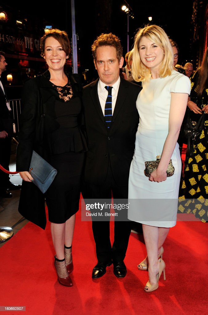 Olivia Colman, Tom Hollander and Jodie Whittaker attend a BFI Luminous Gala ahead of the London Film Festival at 8 Northumberland Avenue on October 8, 2013 in London, England.