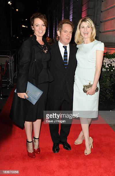 Olivia Colman Tom Hollander and Jodie Whittaker attend BFI Gala Dinner on October 8 2013 in London England