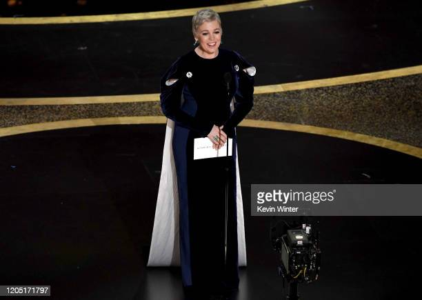 Olivia Colman walks onstage during the 92nd Annual Academy Awards at Dolby Theatre on February 09, 2020 in Hollywood, California.