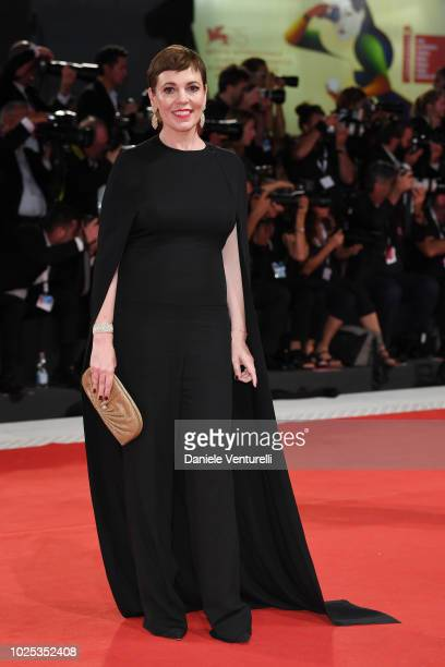 Olivia Colman walks the red carpet ahead of the 'The Favourite' screening during the 75th Venice Film Festival at Sala Grande on August 30 2018 in...