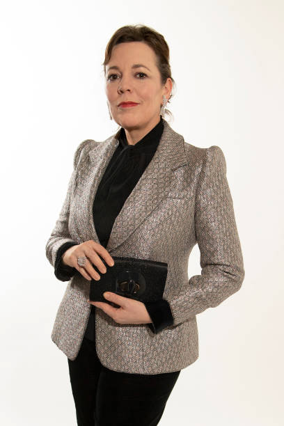 GBR: Olivia Colman Wears Armani Prive For the Virtual Golden Globes At Rosewood London