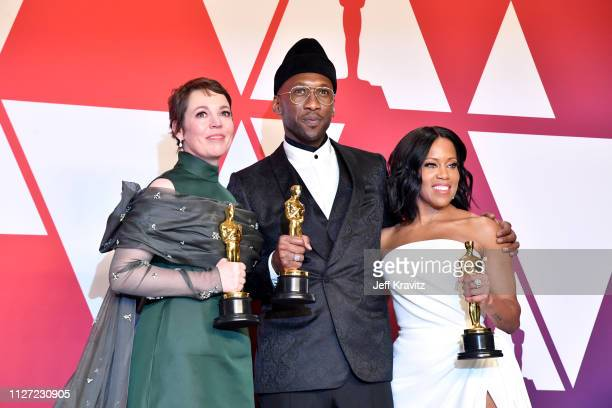 Olivia Colman winner Best Actress award for the film 'The Favourite,' Mahershala Ali winner Best Actor in a Supporting Role for 'Green Book' and...